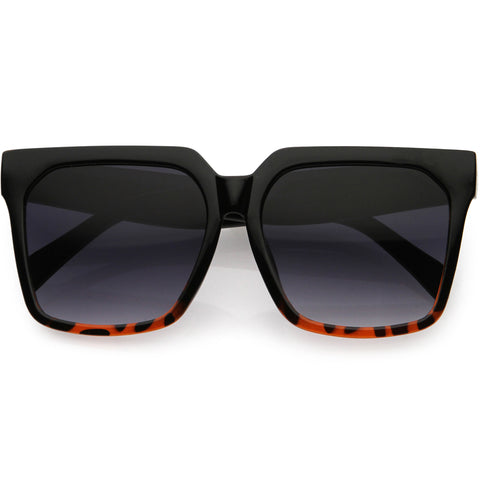 Bold Euro Designer Inspired Fashion Oversize Square Sunglasses 50mm