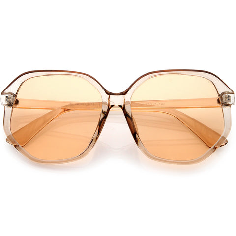 Retro 70s Era Disco Oversize Square Hexagon Sunglasses 57mm
