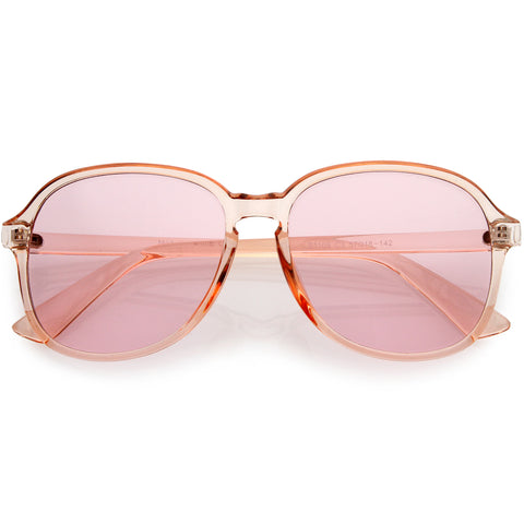 Retro Fab 70s Disco Era Keyhole Nose Classic Round Sunglasses 50mm