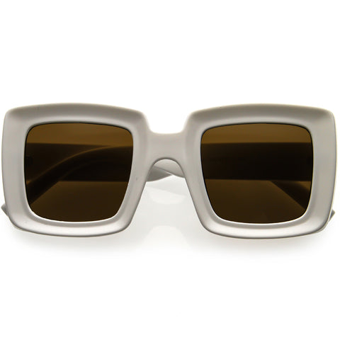 High Fashion 70s Inspired Chunky Square Sunglasses 48mm