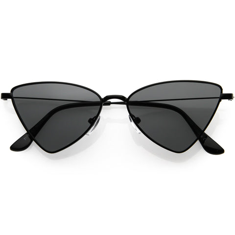 Slim Point Lightweight Metal Cat Eye Sunglasses 52mm