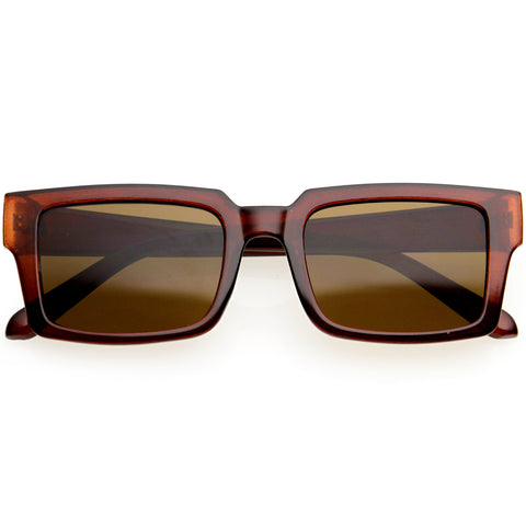 Modern Retro-Inspired Horn Rimmed Square Sunglasses 51mm