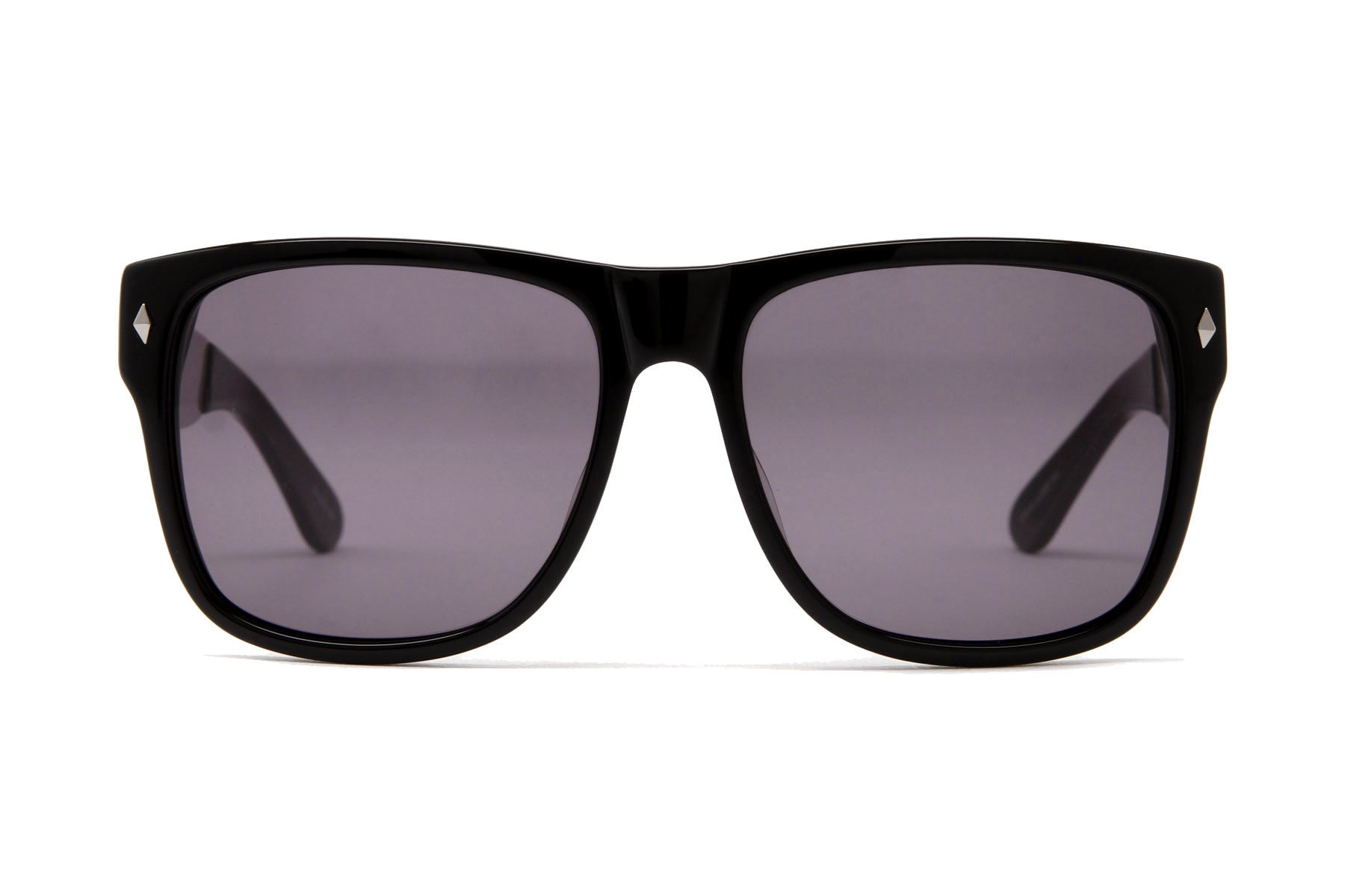 Gunclub Sunglasses (Matte Black/Silver Temple/Gray)