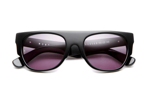 Hudson Sunglasses (Gloss Black/Gray)