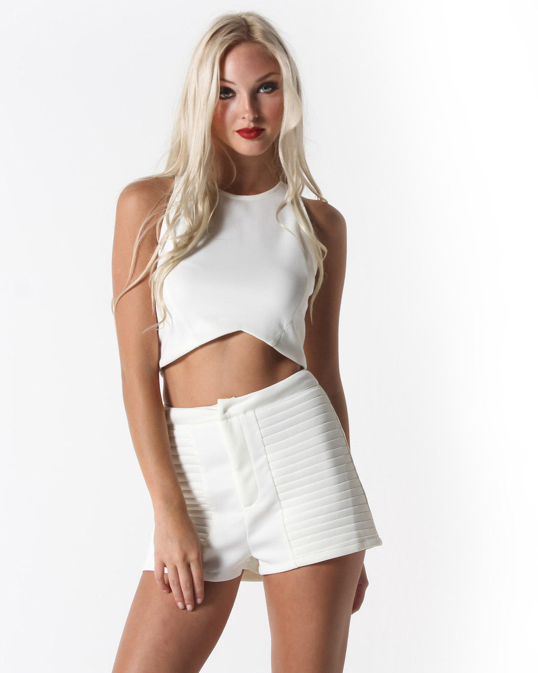 Jacy Crop Top (White)