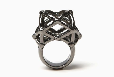 Labyrinth Ring (Gunmetal)