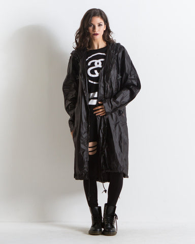 Matilda Oversized Raincoat (Black)
