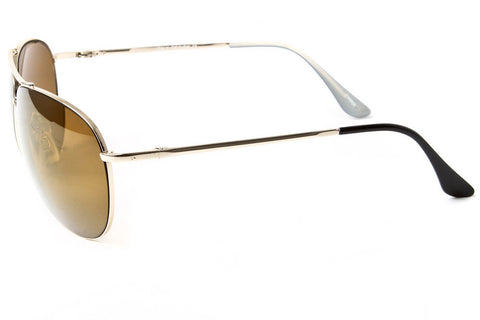 Maverick Curved Mirrored Aviator Sunglasses