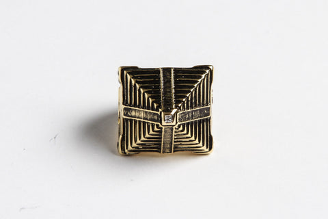 Mayan Pyramid Ring His/Her (Gold)