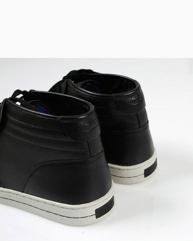 McQueen Midtop Sneakers (Black Perf Leather)