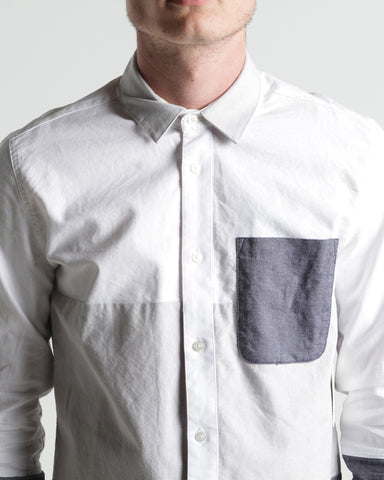 Men's Billet L/S Button Up Shirt (White)