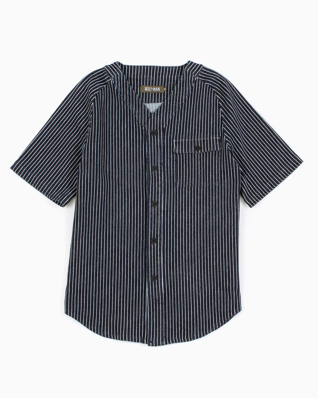 Men's Curt Knit Baseball Jersey (Indigo Blue)