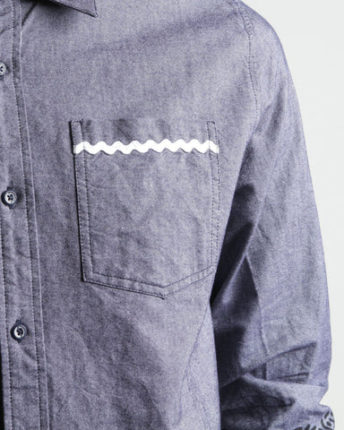 Men's Frak L/S Button Up Shirt (Navy)