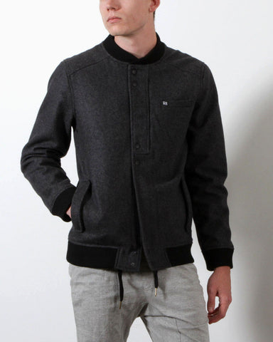Men's Gaylen Wool Bomber Jacket (Grey)