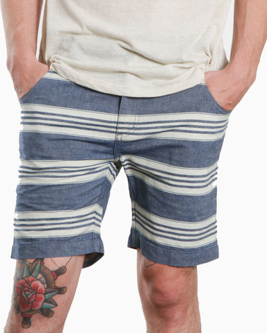 Men's Stephan Stripe Shorts (Indigo Blue)