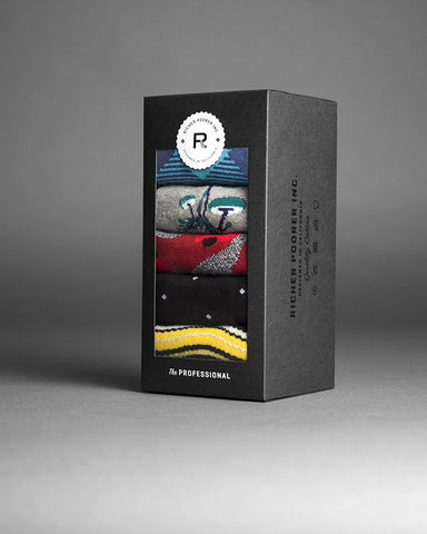 Men's The Professional 5 Piece Gift Sock Pack A