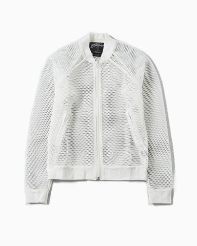 Mesh Bomber Jacket (white)