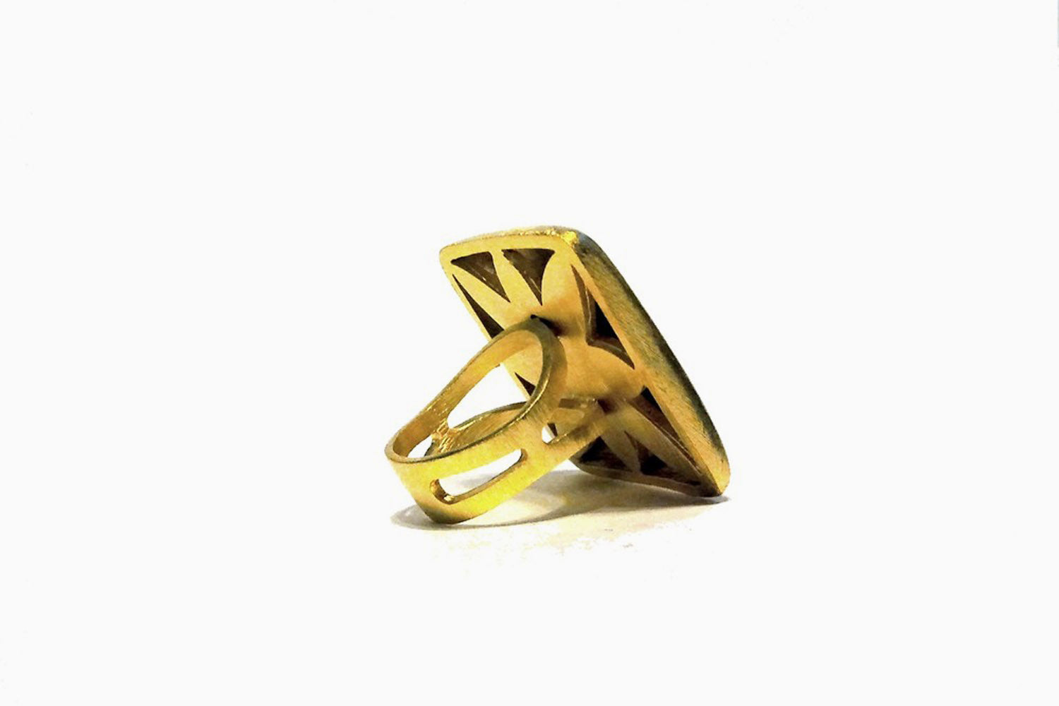 Minx Oversized Square Ring (Gold)