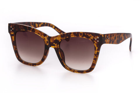 Shelby Oversize Flat Lens Cat Eye Sunglasses