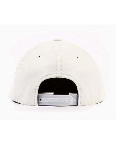 Vegan Leather Snapback (White)