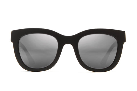 Colony Sunglasses (Matt Black/Silver Mirror CZ)