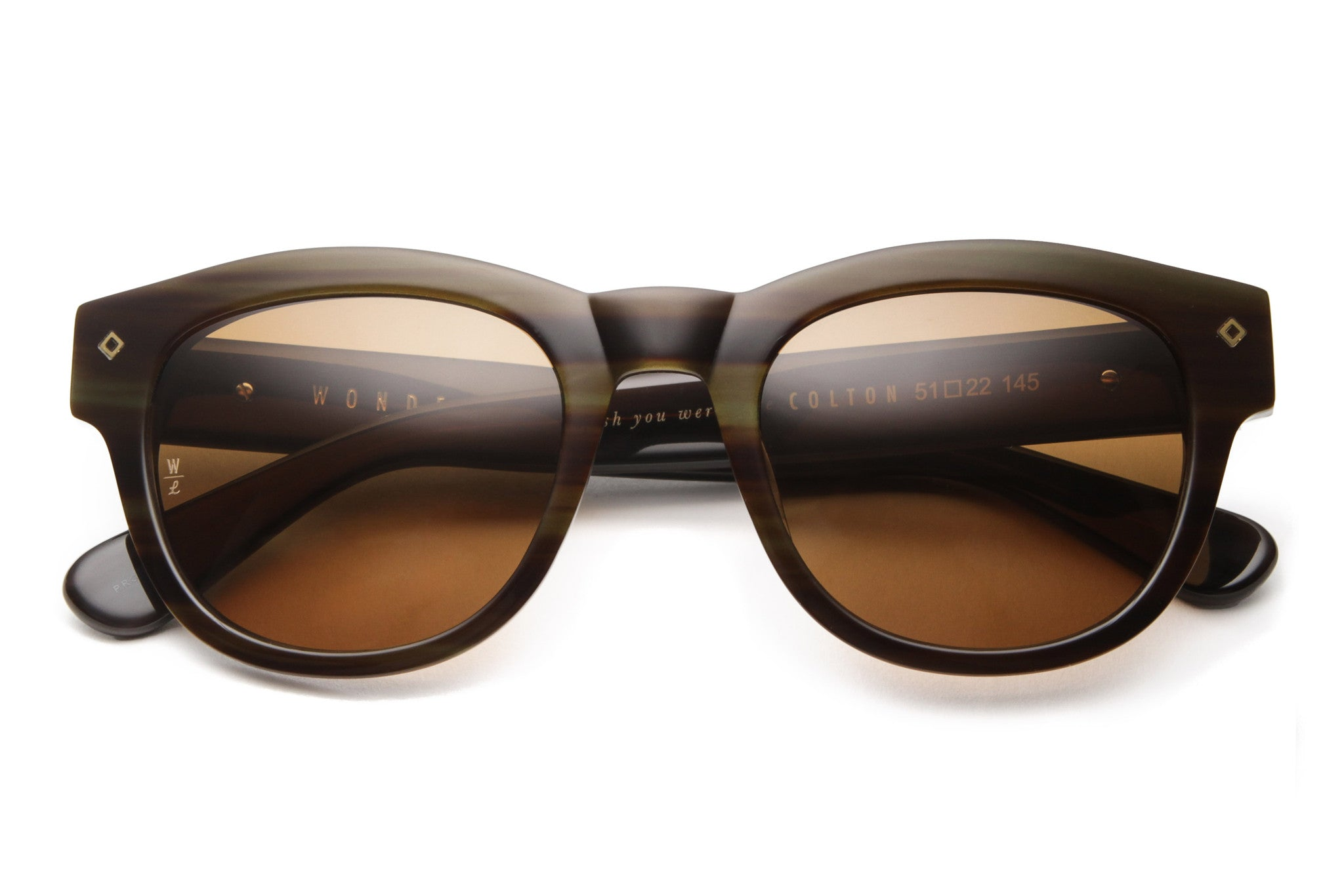 Colton Sunglasses (Dark Wood/Bronze CZ)