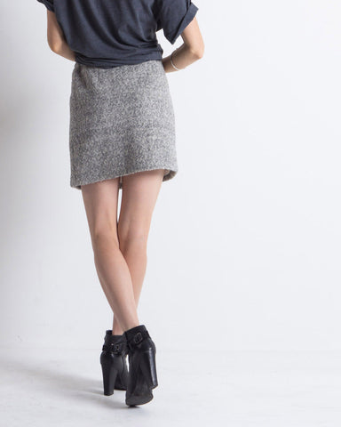 Willa Pointelle Skirt (Grey)