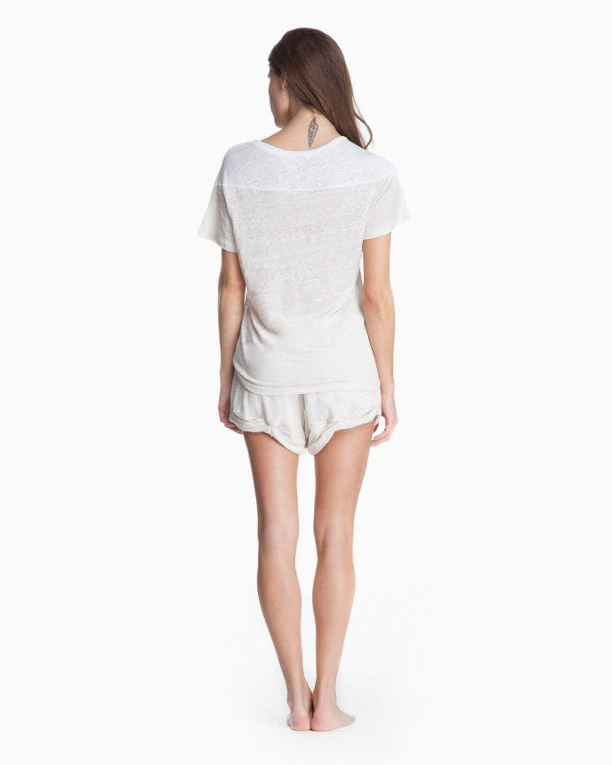 Women's Eliza Linen Shorts (White)