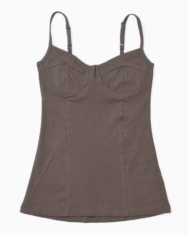 Women's Hush Bustier Tank (Solid Olive)