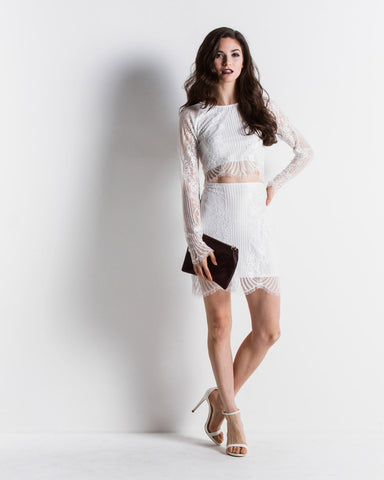 Women's Lolo Mini Skirt (White)