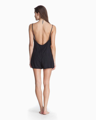 Women's Luca Mini Romper (Jet Black)