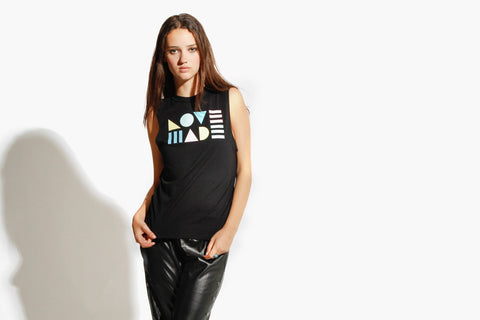 Women's Modern Lovers Muscle Tee (Black)