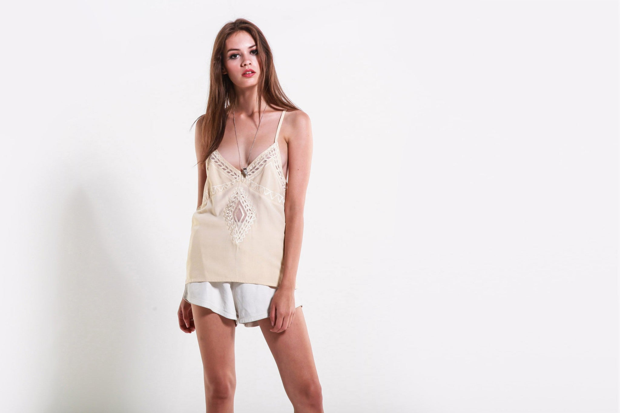 Women's Pop Pier Cami (Creme)