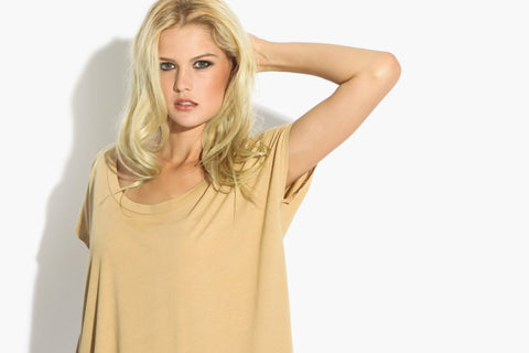 Women's Premium Basic Square Tee (Nutmeg)
