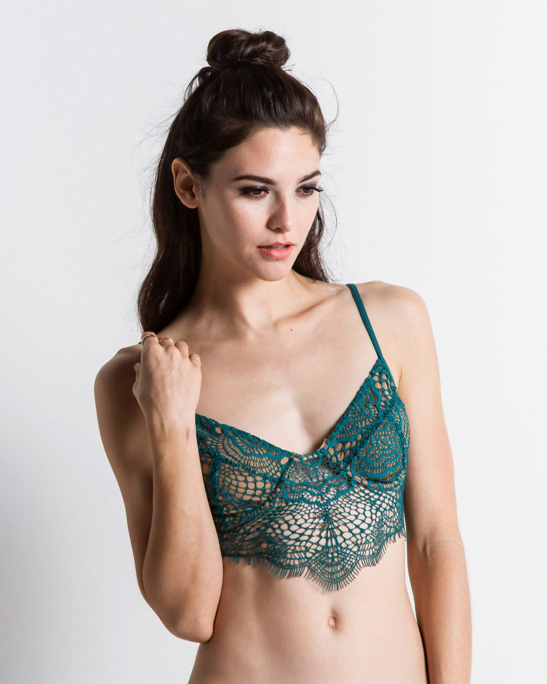 Women's Skivvies Bat Your Lashes Underwire Bra (Jade)