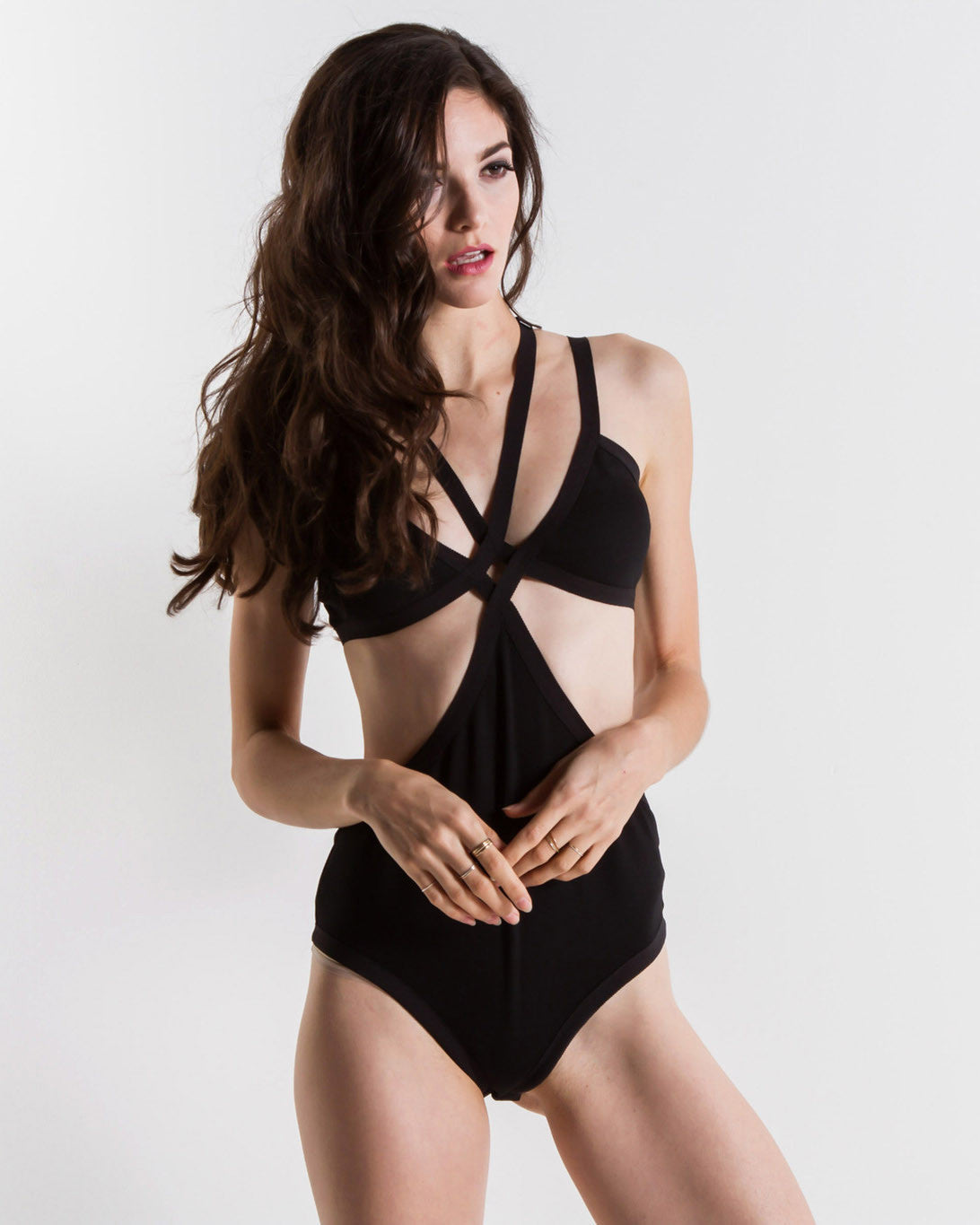 Women's Skivvies Nobody's Business Bondage Bodysuit (Black)