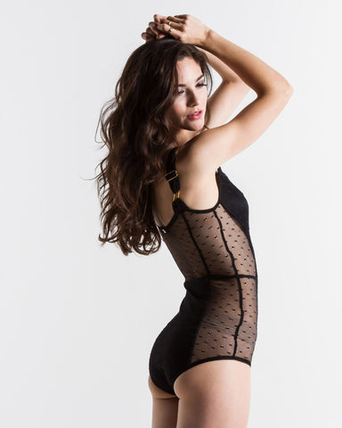 Women's Skivvies Show Off Bodysuit (Black)