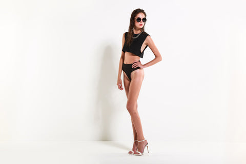Women's The Lovesick Two Piece Swimsuit (Outlaw Black)