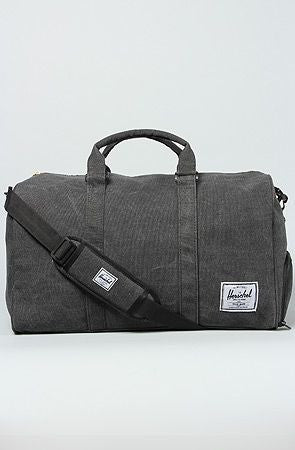 Novel Duffle (Black Cotton Canvas)