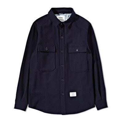 Holden x Stussy - Men's CPO Field Shirt (Melton Wool/Navy)
