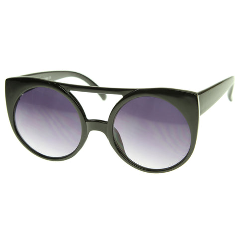 Straight Circle Round Sunglasses