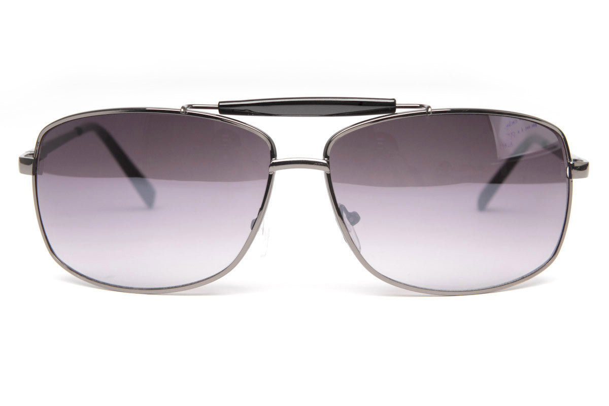 Jack Classic Square Metal Frame Aviator Sunglasses
