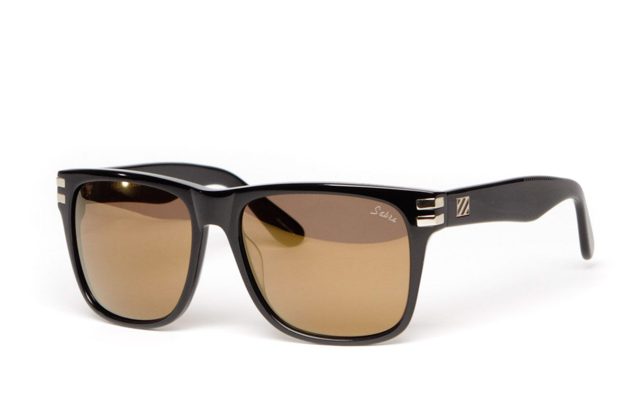 Heartbreaker Sunglasses (Black Gloss/Gold Mirror)