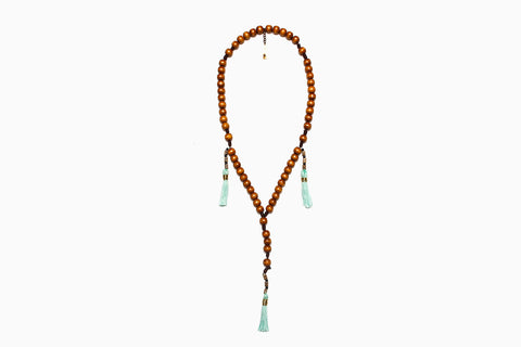 Mala Bead and Tassel Necklace (More Colors)