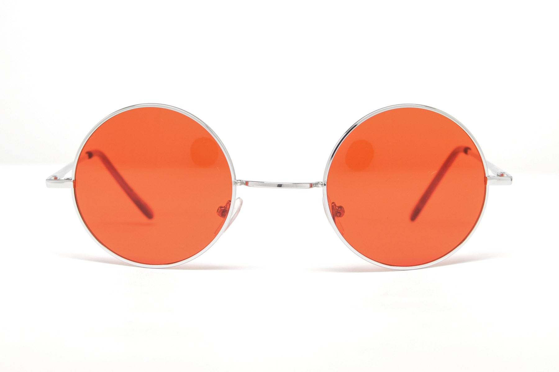 Lennon Round Colored Framed Sunglasses