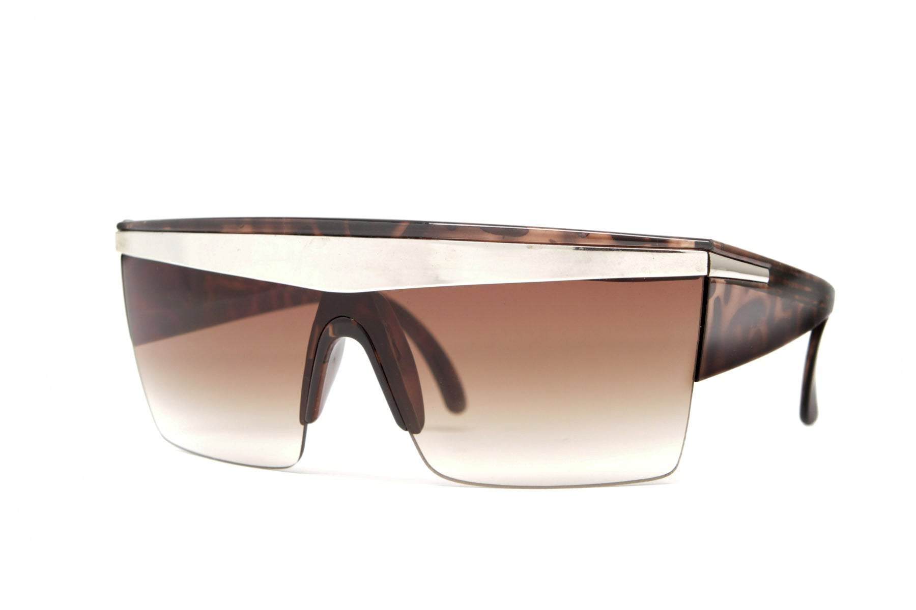 Lady Gaga Half Frame Shield Sunglasses