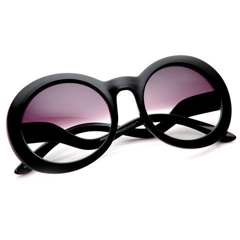 Chris Half Tint Round Frame Sunglasses