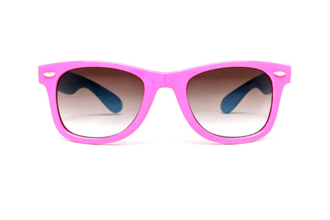 Hyper Two - Tone Colored Wayfarer Sunglasses