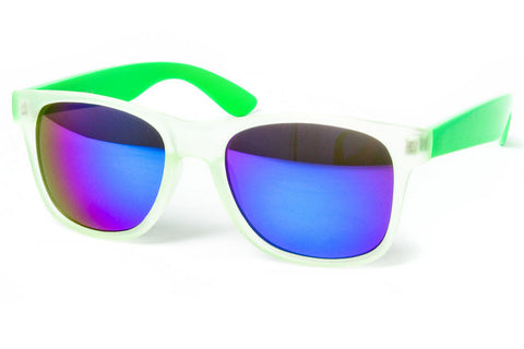 Frosty II Colored Revo Mirror Wayfarer Sunglasses