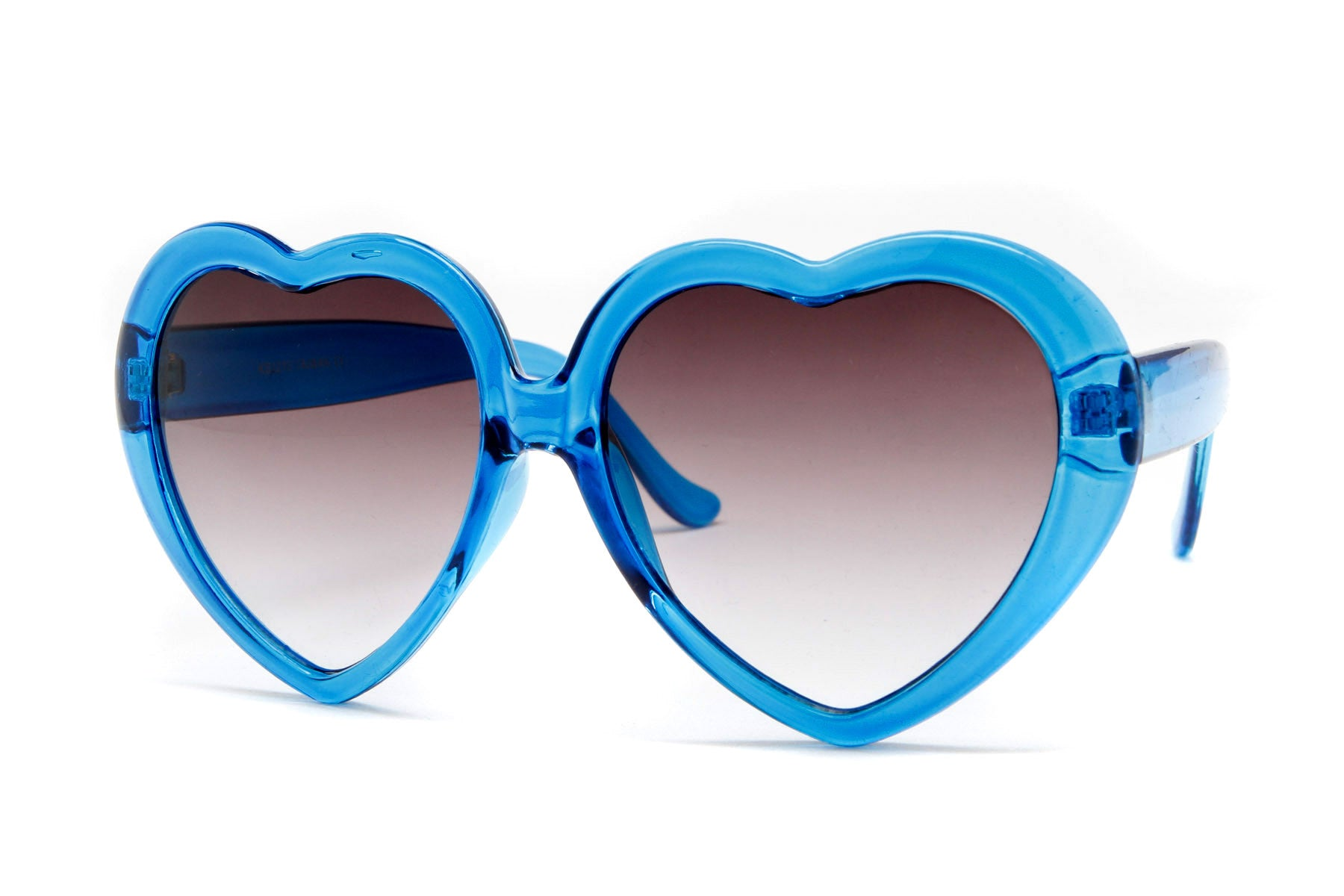 Lucite Clear Half Tint Heart Sunglasses